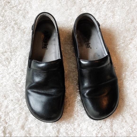 Alegria Shoes - Alegria Black Leather Clogs Size 39
